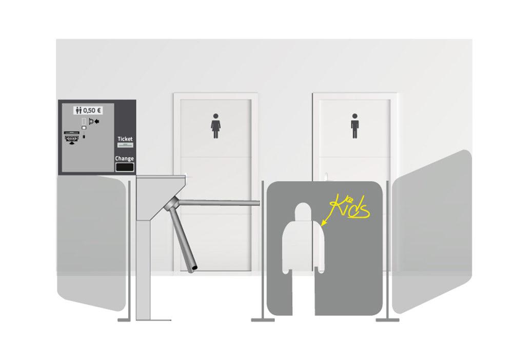 Alphatronics oplossing voor betalend toiletbezoek