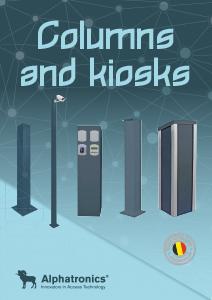 zuilen en kiosken voor toegangscontrole systemen